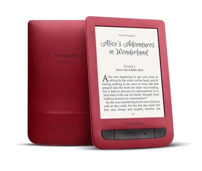 E-book POCKETBOOK 626 Touch Lux 3, Ruby červený