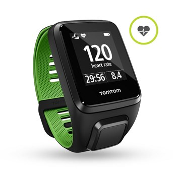 TomTom Runner 3 Cardio - black/green (L)