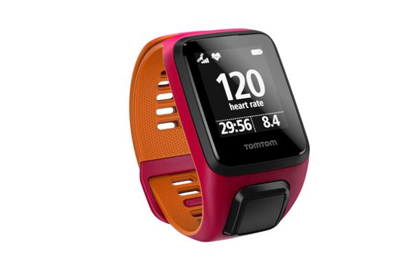 TomTom Runner 3 Cardio - pink/orange (S)