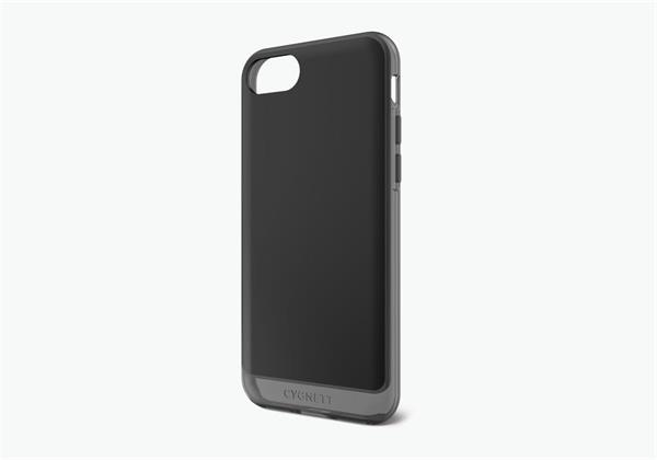 Cygnett, obal AeroShield Clear pre iPhone 7/8, čierny/dymový