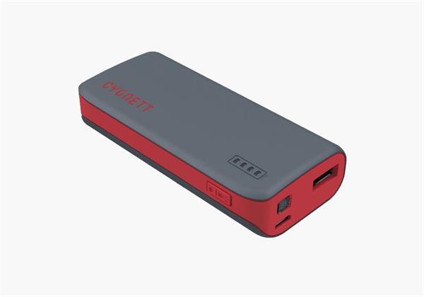 Cygnett Charge Up Sport 4.400mAh Powerbank 1 USB Port/1.0A šedo-červená