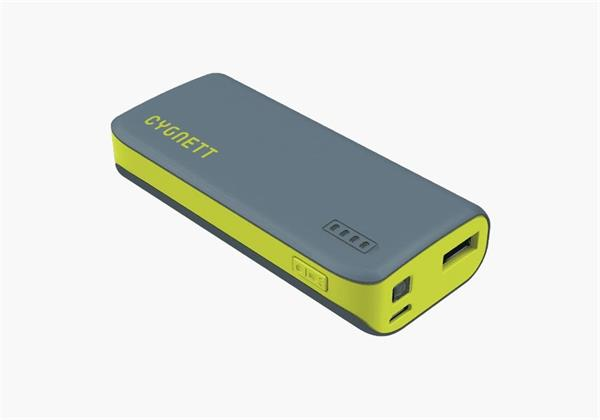 Cygnett Charge Up Sport 4.400mAh Powerbank 1 USB Port/1.0A, šedo-zelená