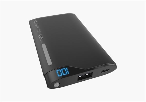 Cygnett ChargeUp Polymer Digital Powerbank 4.000mAh, 1 USB/2.1A, pre smartfóny a tablety, čierno-šedá