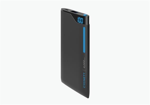 Cygnett ChargeUp Polymer Digital Powerbank 4.000mAh, 1 USB/2.1A, pre smartfóny a tablety, čierno-modrá