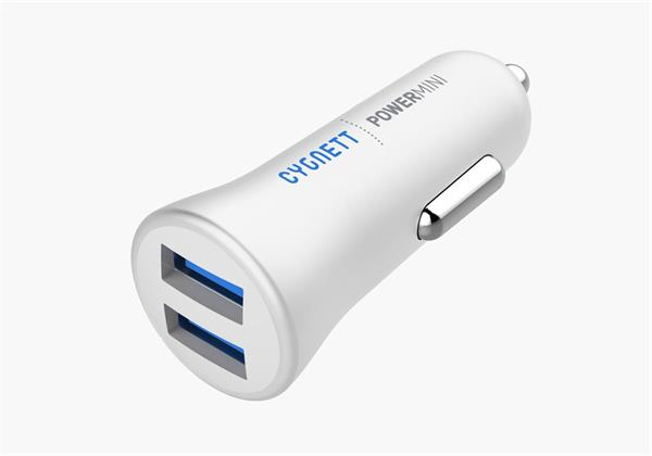 Cygnett PowerMini autonabíjačka, 2.4 A, 2xUSB, biela
