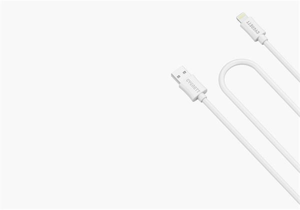 Cygnett nabíjací a synchronizačný kábel Lightning/USB, 3m, MFi schválený, biely