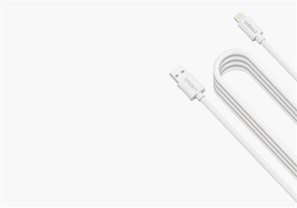 Cygnett nabíjací a synchronizačný kábel Lightning/USB, 4m, MFi schválený, biely