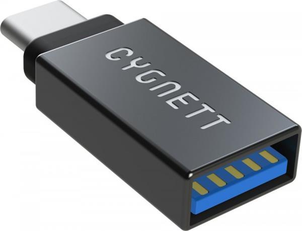 Cygnett adaptér USB-C/USB-A, podpora USB 3.1 čierny