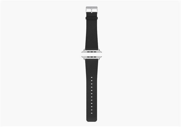 Cygnett remienok pre Apple Watch, pravá koža, 42mm, čierny