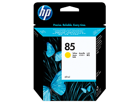 HP No. 85 Yellow Ink Cartridge, 69ml