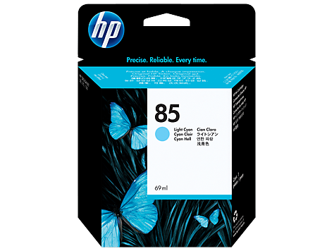 HP No. 85 Light Cyan Ink Cartridge, 69ml