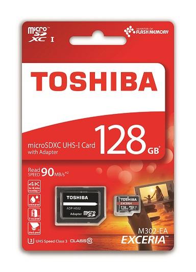 128 GB . microSDHC karta Toshiba EXCERIA Class 10 UHS + adaptér