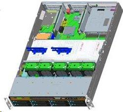 Intel®Server R2208WT2YSR Rack 2U, 2xE5-2600V3/V4, 24xDDR4 RDIMM, 8x2.5' HDD HotSwap, 8xSATA ports, 2x1Gb LAN, 1+0 1100W