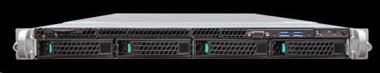 Intel®Server Rack 1U, 2xE5-2600V3/V4, 24xDDR4 RDIMM, 4x3.5' HDD HotSwap, 8xSATA ports, 2x10Gb Intel X540 LAN, 1+0 750W,