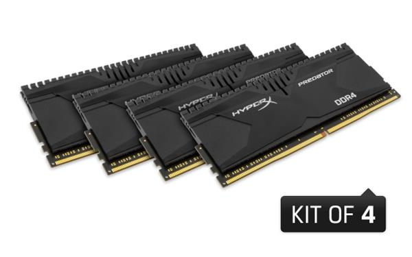 DDR 4.... 16GB . 3000MHz. CL15 HyperX Predator Kingston (4x4GB) XMP