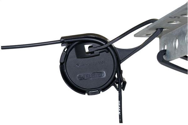Kotvící svorka závěsná s očkem pro instalaci DROP kulatý kabel 2-6 mm