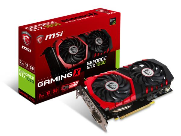 MSI GeForce GTX 1050 GAMING X 2GB GDDR5, DP, HDMI, DVI