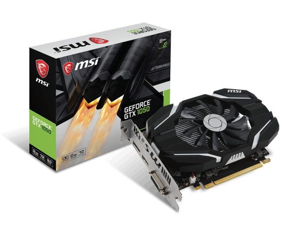 MSI GeForce GTX 1050 2GT OC 2G GDDR5, DP, HDMI, DVI