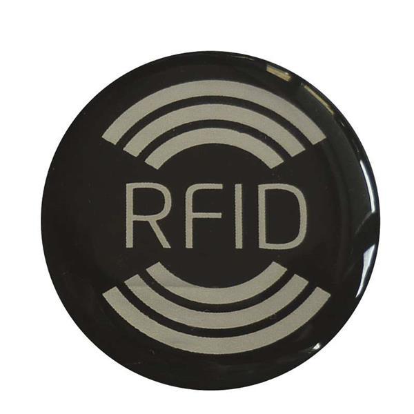 Samolepka s RFID čipom, čierna