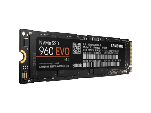 Samsung SSD 960 EVO Series 500GB M.2 PCIe, r3200MB/s, w1800MB/s