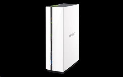 QNAP™ TS-128-EU 1 Bay NAS, 3.5, ARM® v7 1.1 GHz Dual-core, DDR3 1G 4GB flash