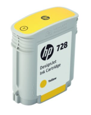 F9J61A HP 728 40-ml Yellow DesignJet Ink Cartridge