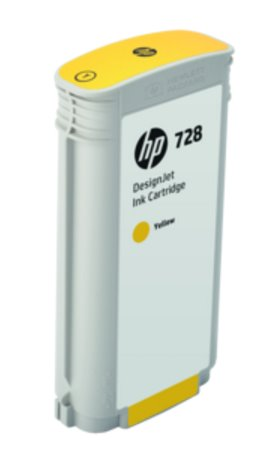 F9J65A HP 728 130-ml Yellow DesignJet Ink Cartridge