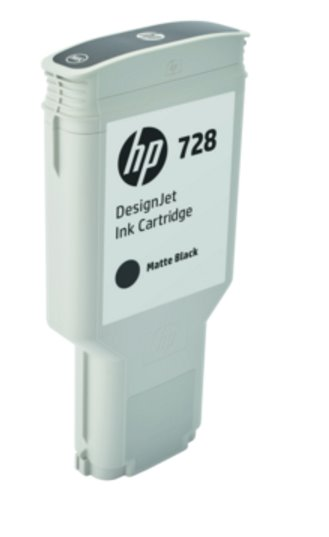 F9J68A HP 728 300-ml Matte Black DesignJet Ink Cartridge