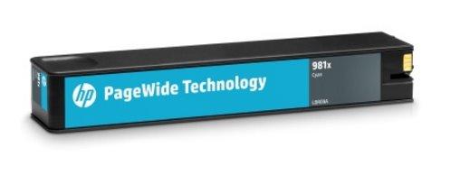 L0R09A Originálna azúrová kazeta HP 981X PageWide s vysokou výťažnosťou