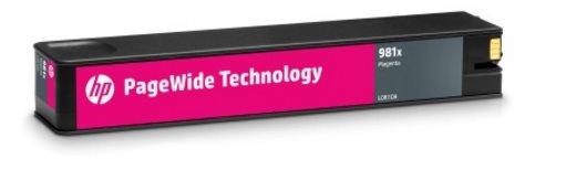 L0R10A Originálna purpurová kazeta HP 981X PageWide s vysokou výťažnosťou