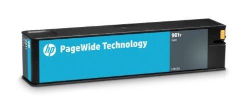 L0R13A Originálna azúrová kazeta HP 981Y PageWide s mimoriadne vysokou výťažnosťou