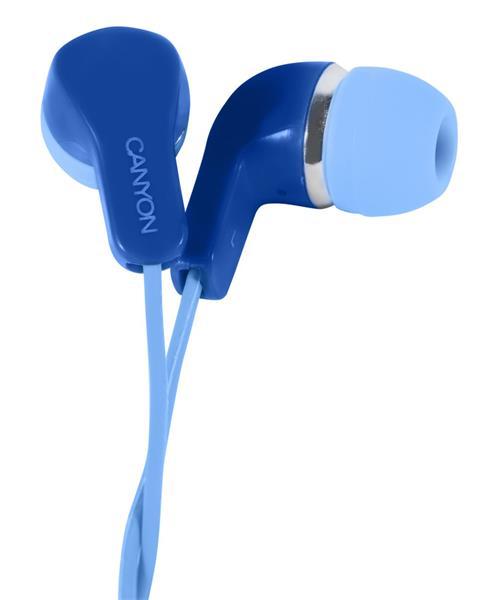 Canyon CNS-CEPM02BL slúchadlá do uší, pre smartfóny, integrovaný mikrofón a ovládanie, modré