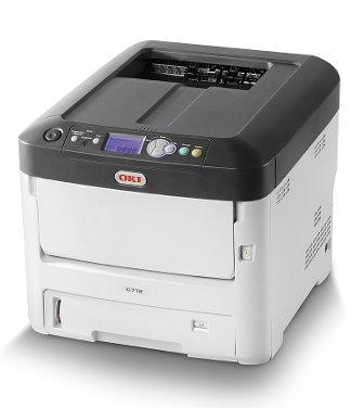 OKI C712n farebna laser. tlaciaren A4 34str. far/min 36str/min CB, USB, NET