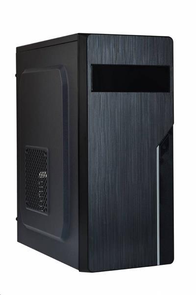 Eurocase ML X402, skrinka ATX, bez zdroja, 2xUSB, čierna