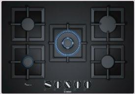 BOSCH_75 cm, plynový varný panel s ovládaním, tvrdené sklo, čierna