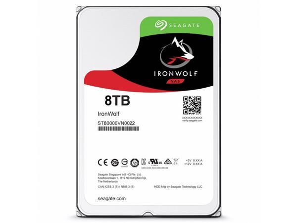 Seagate IronWolf NAS HDD 8TB 7200RPM 256MB SATA 6Gb/s