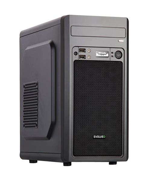 Evolveo M2 case, mATX, USB 3.0 + audio výstup, čierny
