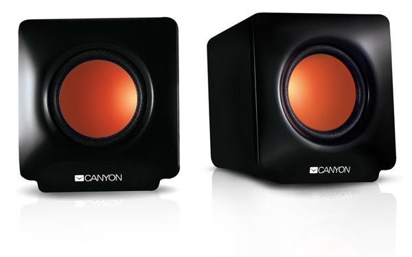 Canyon CNE-CSP201 reproduktory 2.0, USB napájanie, 3.5 mm mini-jack, čierne