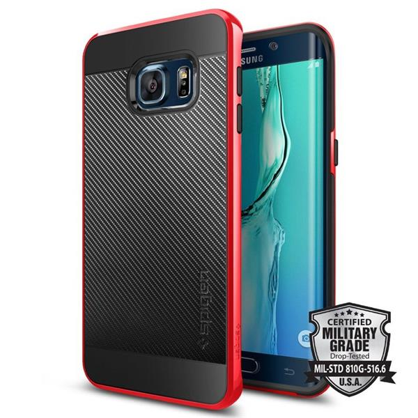 Spigen Neo Hybrid Carbon for Galaxy S6 Edge plus red