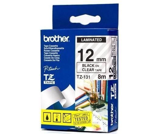 BROTHER TZe-131 čierna potlač/priehľadná páska 12 mm
