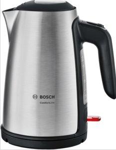 BOSCH_2000-2400 W,objem 1,7 l, ochrana proti vyvarení, auto vyp., minimálna náplň 300 ml, nerez/čierna