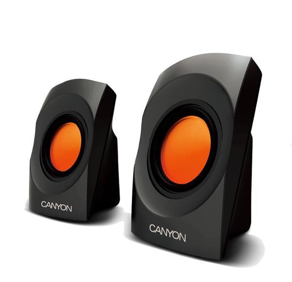 Canyon CNR-SP20JB reproduktory, čierno-oranžové