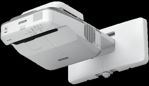 Epson projektor EB-670, 3LCD, XGA, 3100ANSI, 14000:1, USB, HDMI, LAN, MHL - ultra short