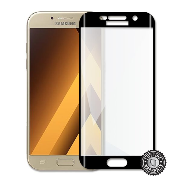 ScreenShield Samsung A520 Galaxy A5 (2017) Tempered Glass protection (full COVER BLACK metalic frame)