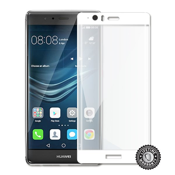 Screenshield Tempered Glass HUAWEI P9 Plus VIE-L09 (full COVER WHITE metalic frame) - Film for display protection