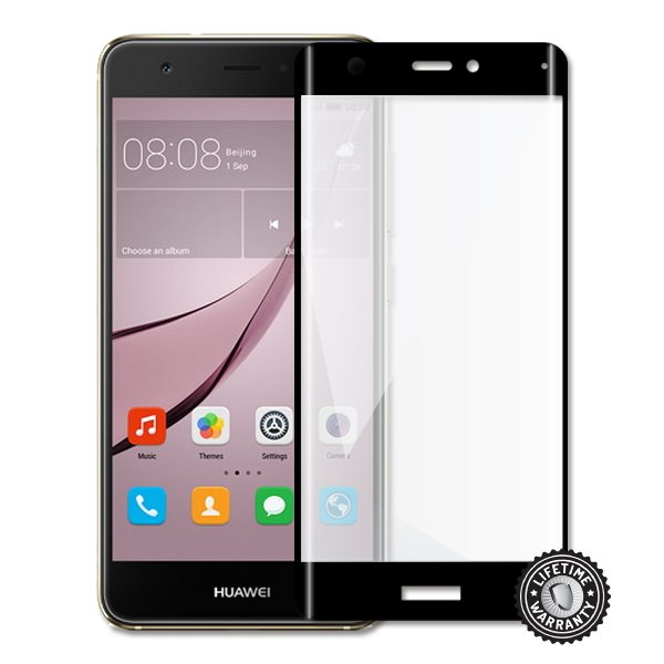 Screenshield Nova CAN-L11 Tempered Glass protection (full COVER BLACK metalic frame) - Film for display protection