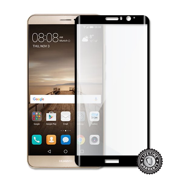 Screenshield Mate 9 (full COVER BLACK metalic frame) Tempered Glass protection - Film for display protection