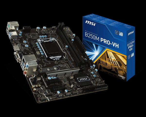 MSI B250M PRO-VH/Socket 1151/DDR4/USB3.1/DSUB/HDMI/RTL8111H/mATX