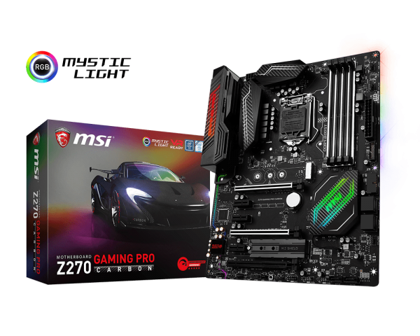 MSI Z270 GAMING PRO CARBON/Socket 1151/DDR4/USB3.1/DVI-D/HDMI/I219-V/RAID/ATX