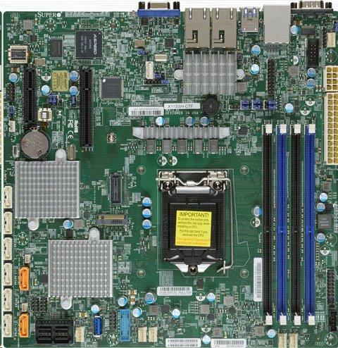 Supermicro X11SSH-CTF F1xLGA1151 iC236,DDR4,8xSATA3,PCIe 3.0 (1 x8 (in x16), 1 x8, 1 x4 (in x8)), 1x M.2 , 2x10Gb,IPM